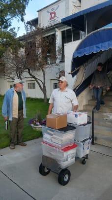 Moving books upstairs