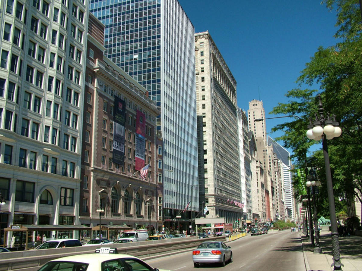 The buildings on Chicago's Michigan Ave. are good candidates for repair or replacement in-kind.