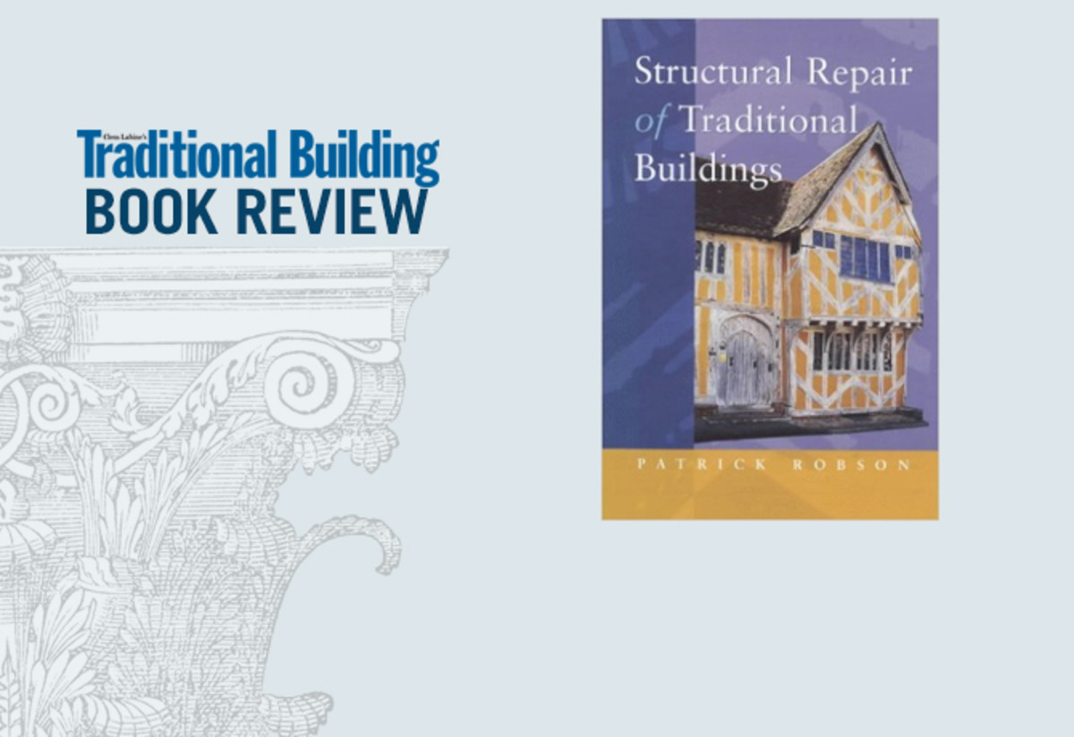 Book Review Structural Repair Of Traditional Buildings