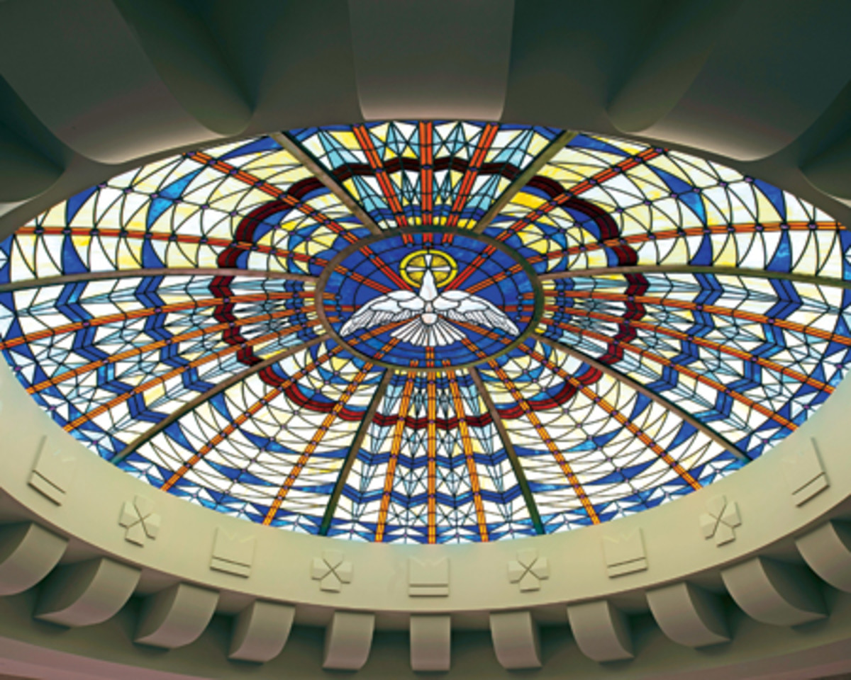 Cathedral of Christ the King art deco stained glass