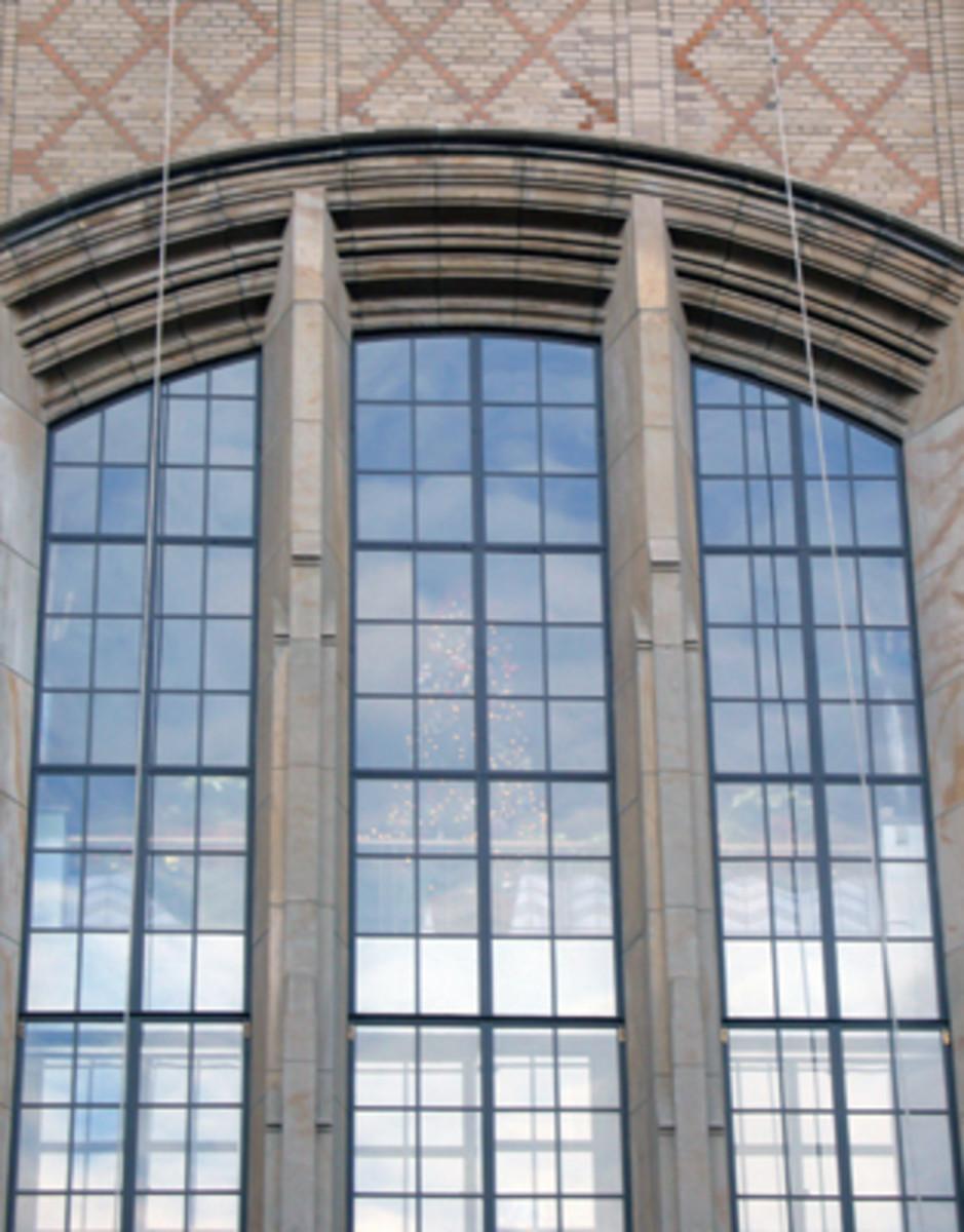 restored steel windows at Columbia University Hospital