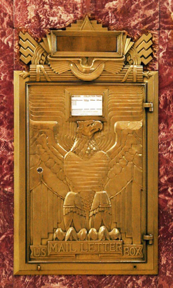 art deco mailbox