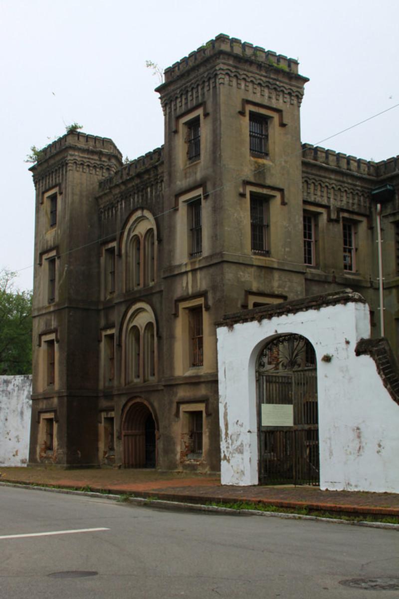 Charleston City Jail. Natural Cement over Brick Masonry circa 1888