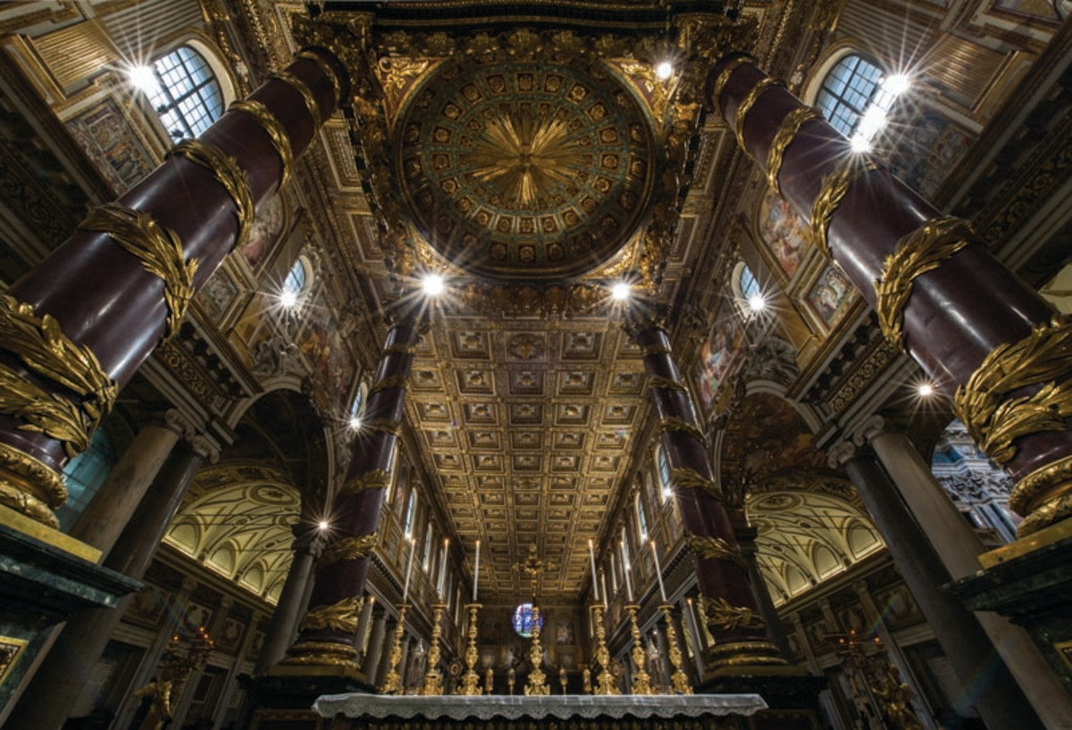 St. Mary Major: High altar, ceiling and baldacchino, one of the photos by Stephen Weigel.