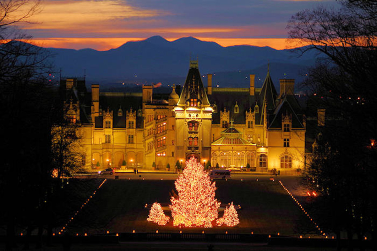 The Biltmore House at Christmas