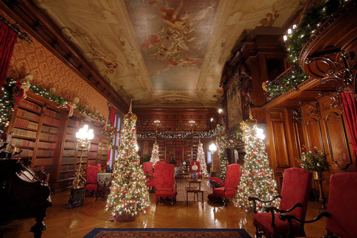 The library at the Biltmore House