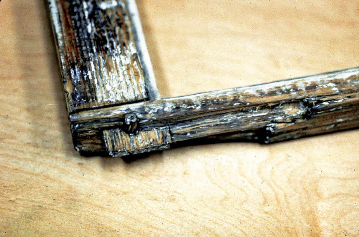 tenon and wood peg