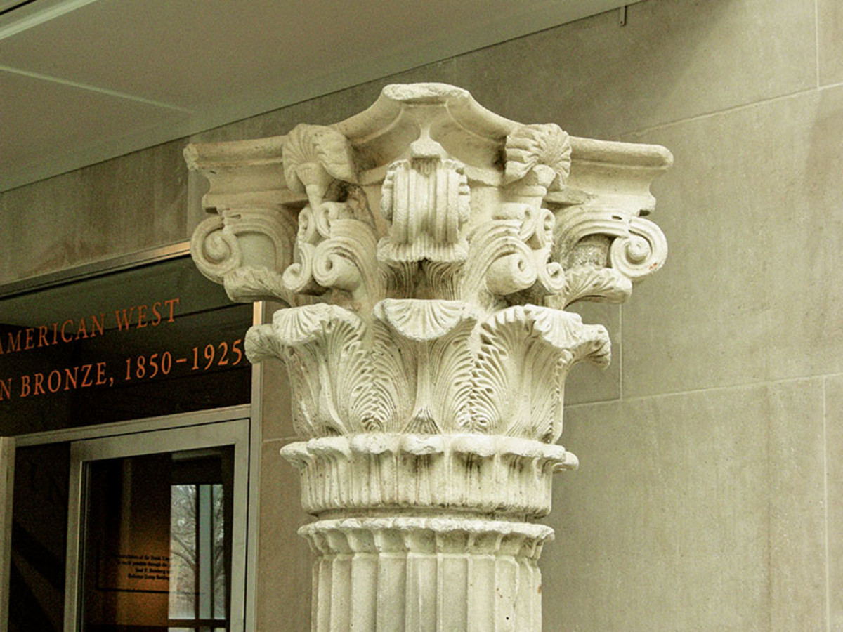 intricate column