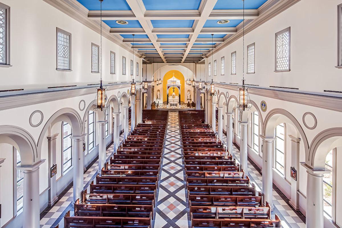 choir loft view