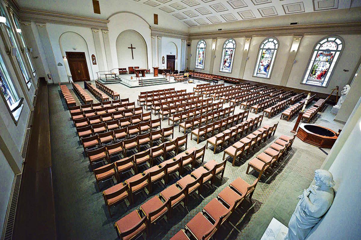 St. Vincent de Paul Roman Catholic Church, Albany, NY, before restoration
