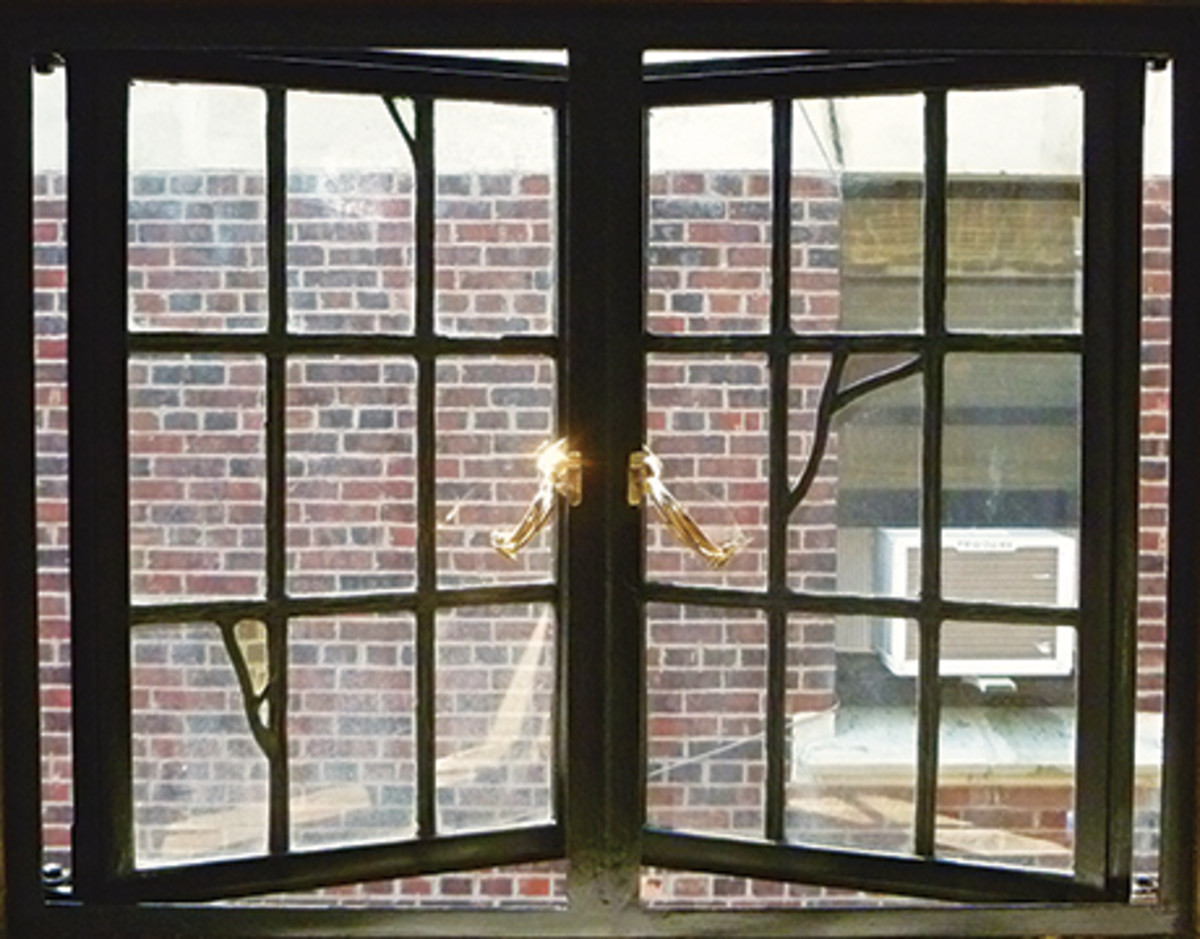 historic steel casement window