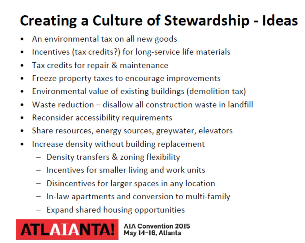 Creating a culture of Stewardship proposed ideas.
