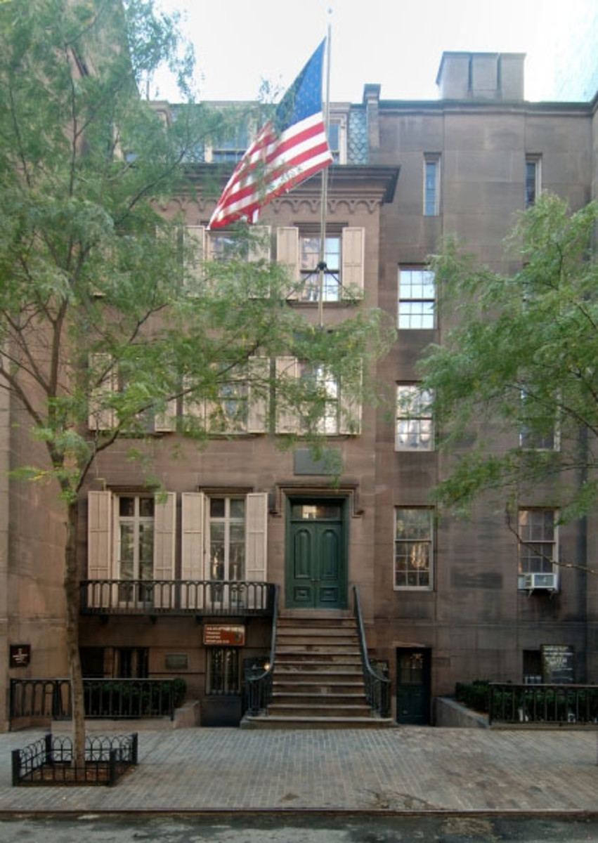 "The Theodore Roosevelt birthplace in NYC was rebuilt in 1923 as a memorial to the 26th president because his original house had been demolished. The National Park Service operates this reconstructed landmark without ever calling it ""fake architecture."""