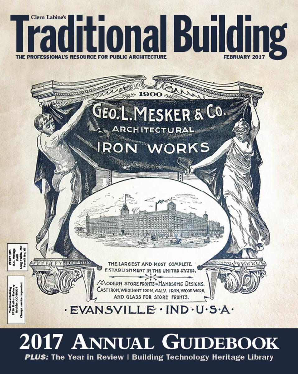 Traditional Building magazine cover 2017