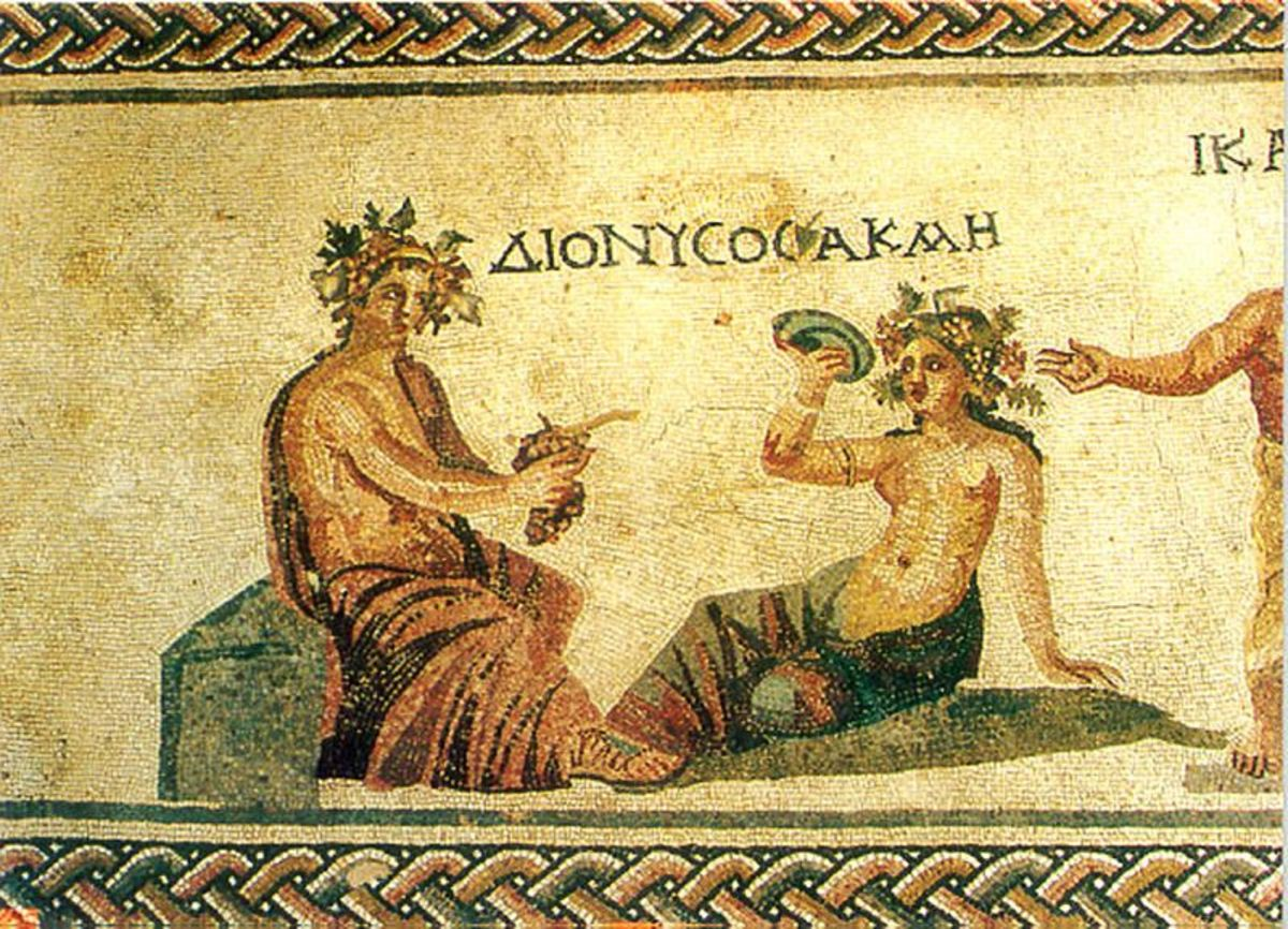 Dionysos, Greek god of wine