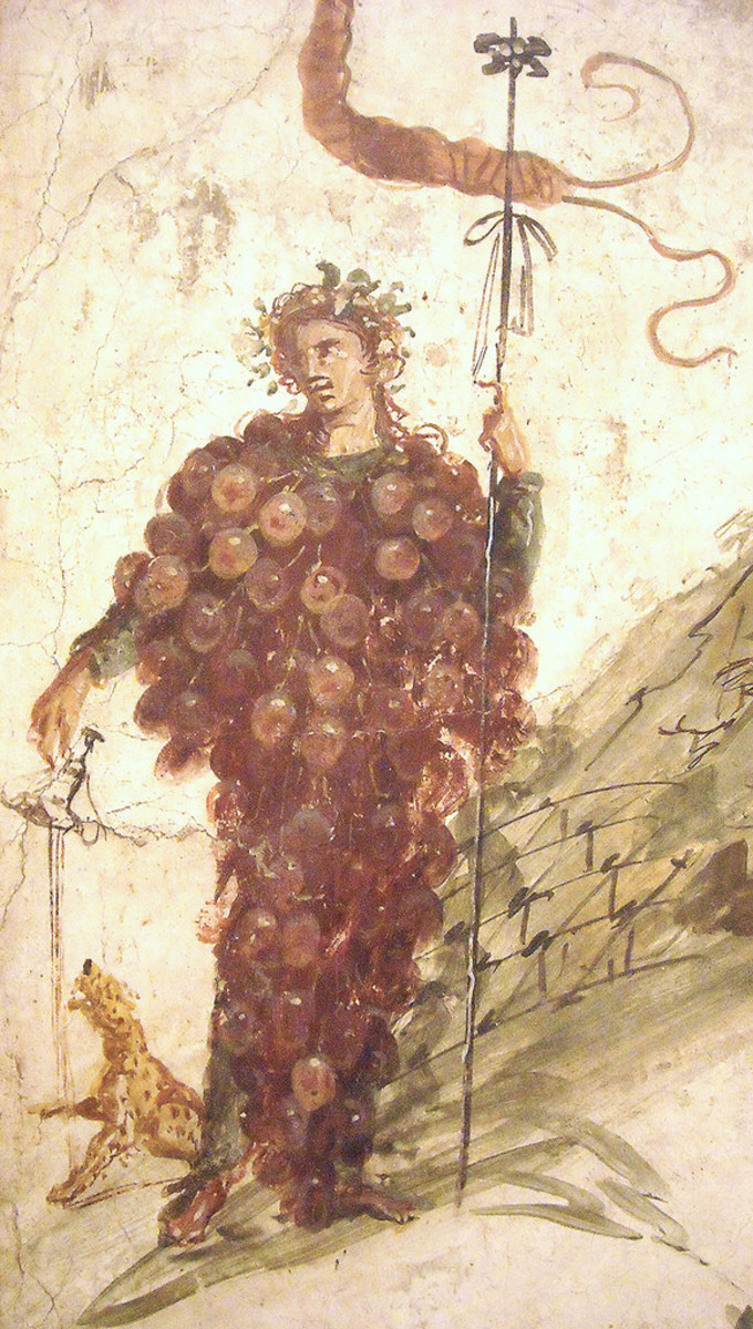 Bacchus fresco, House of the Centenary