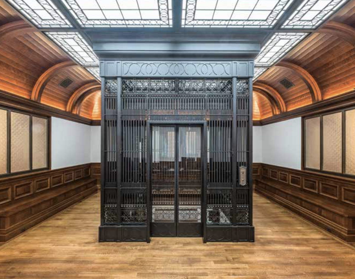 Iron cage elevator