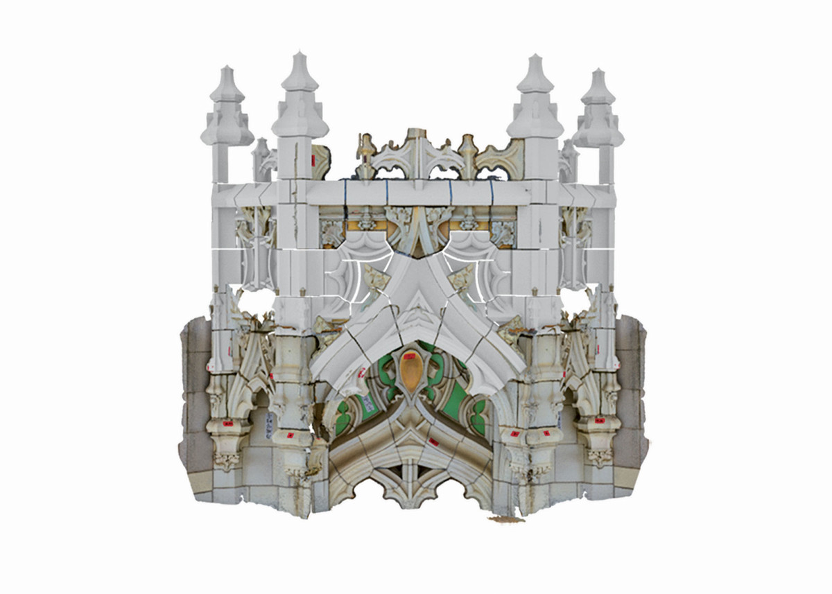 composite rendering of a section of the Woolworth Building