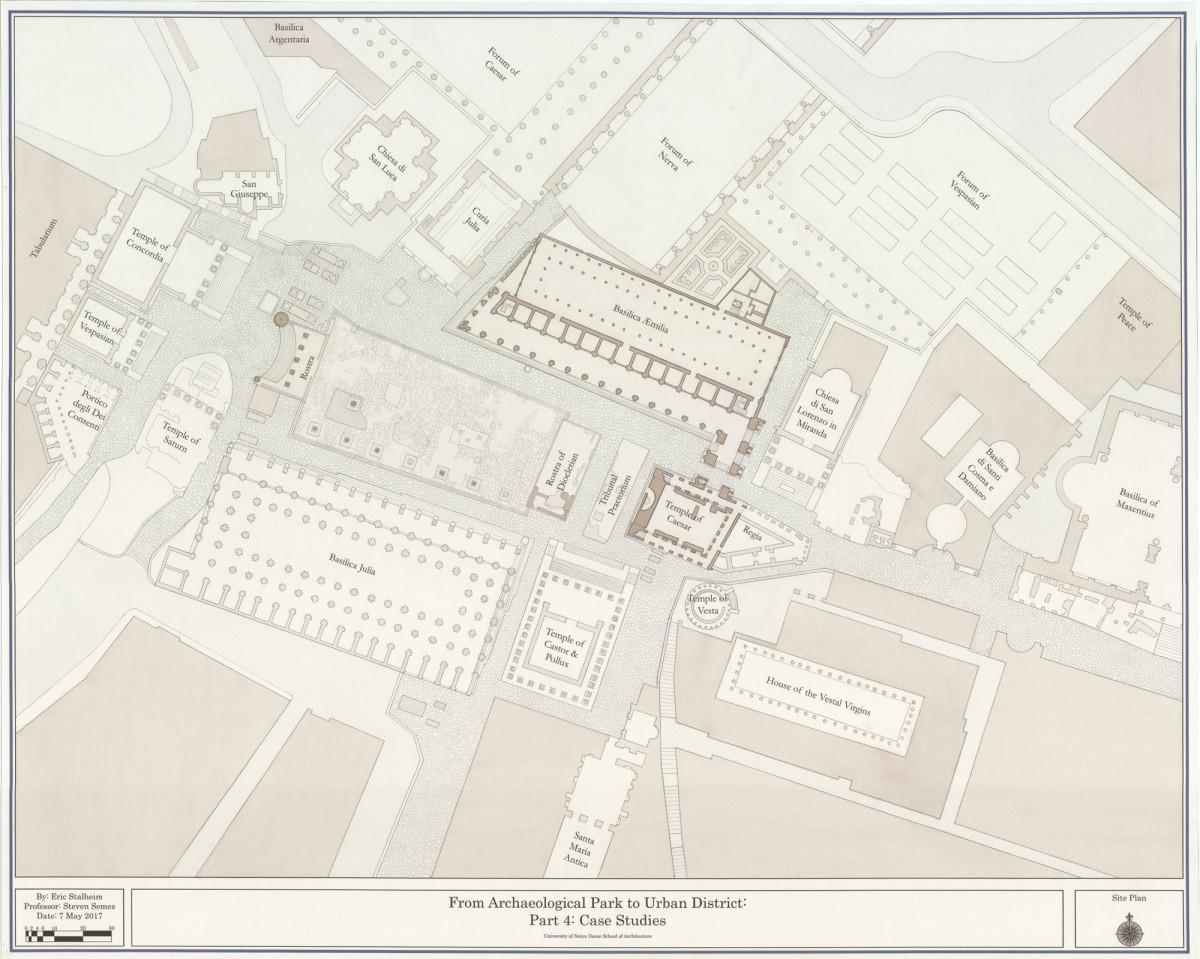 Roman street map