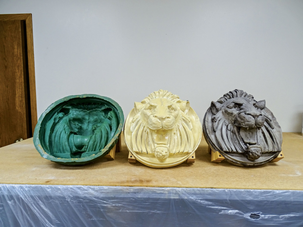 ABATRON's roaring lion's head
