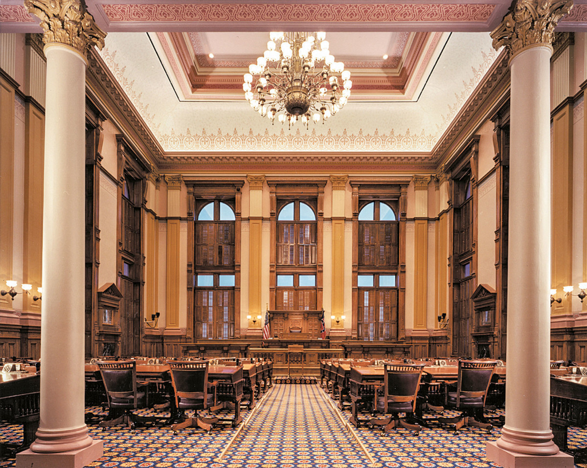 The restored Senate Chambers.