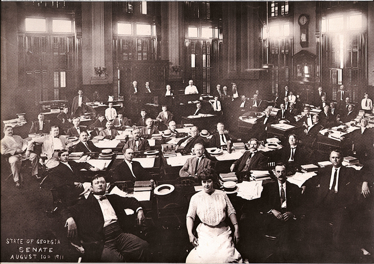 Historic photo of the Senate Chambers.