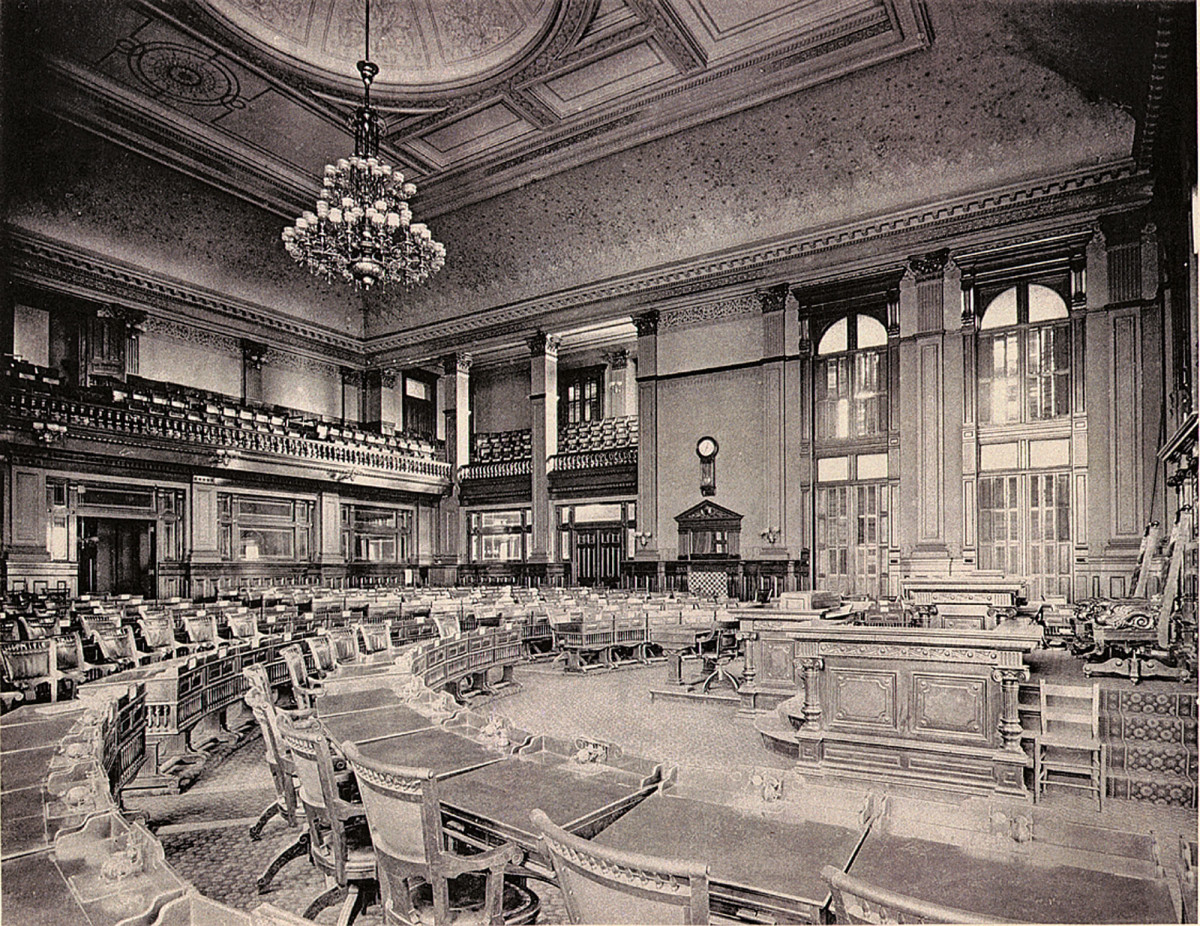 Historic photo of the House Chambers.