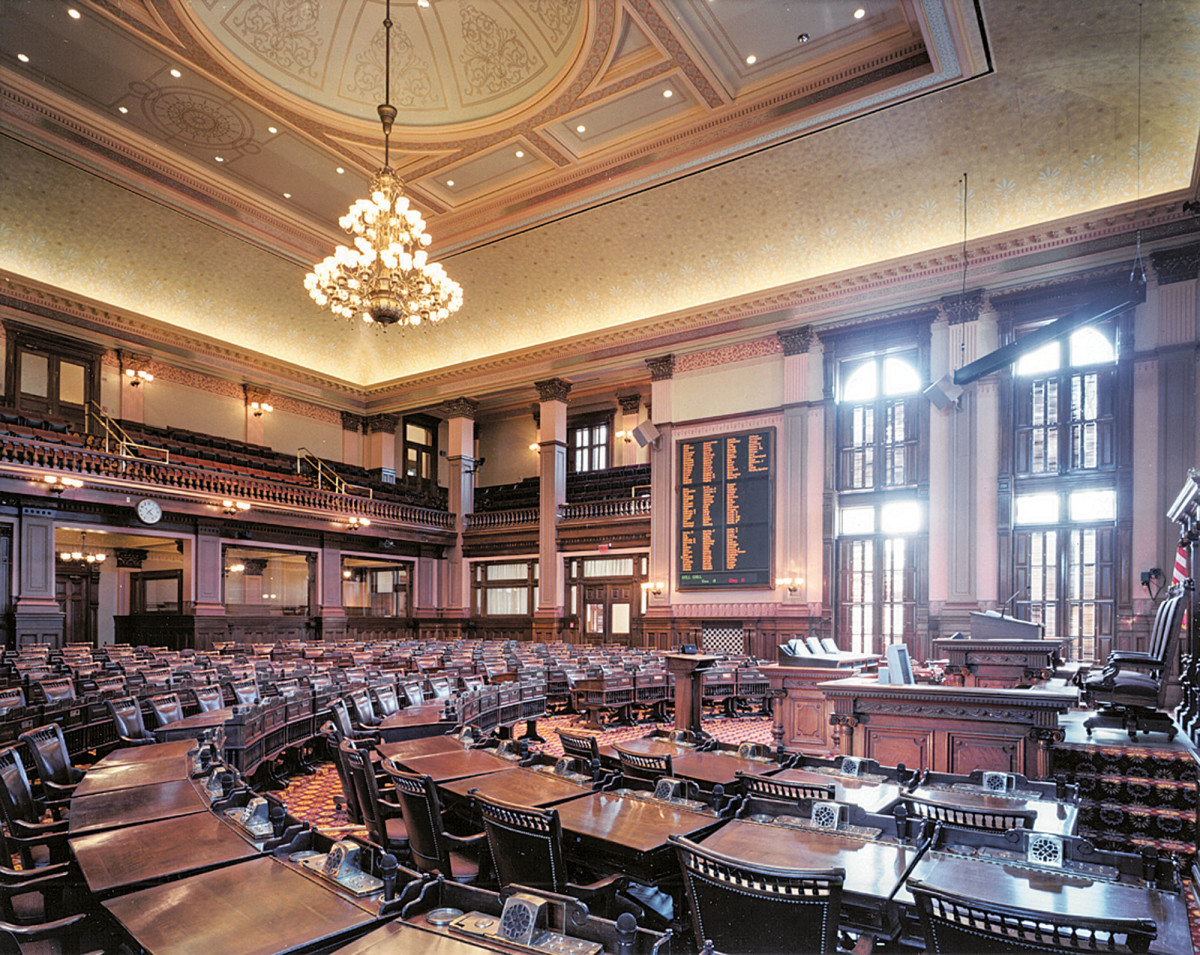The restored House Chambers.