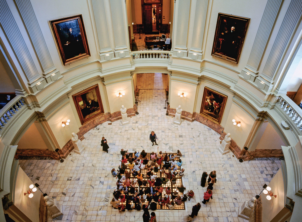 Interior view of Georgia's State Capitol
