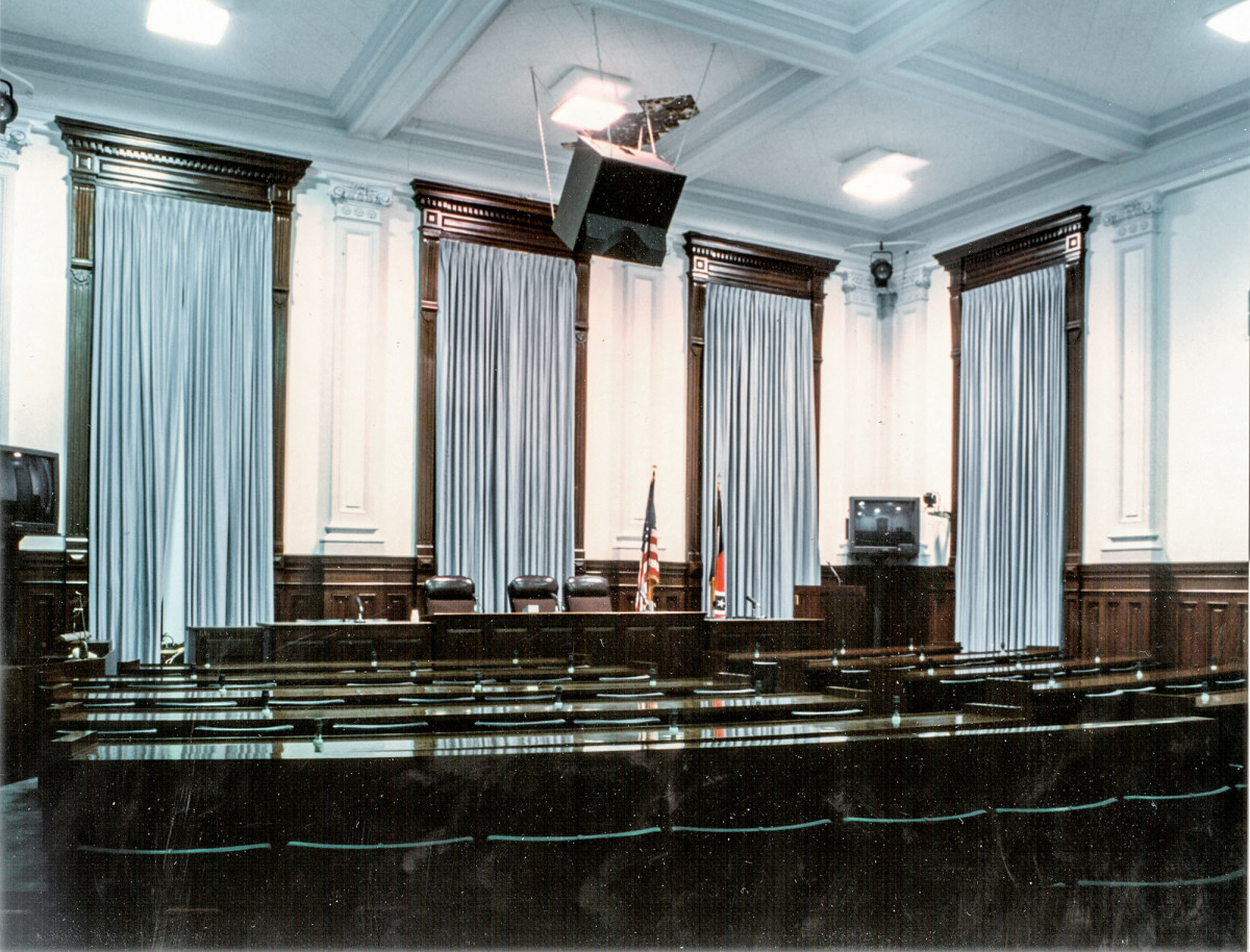 The Appropriations Room before restoration.