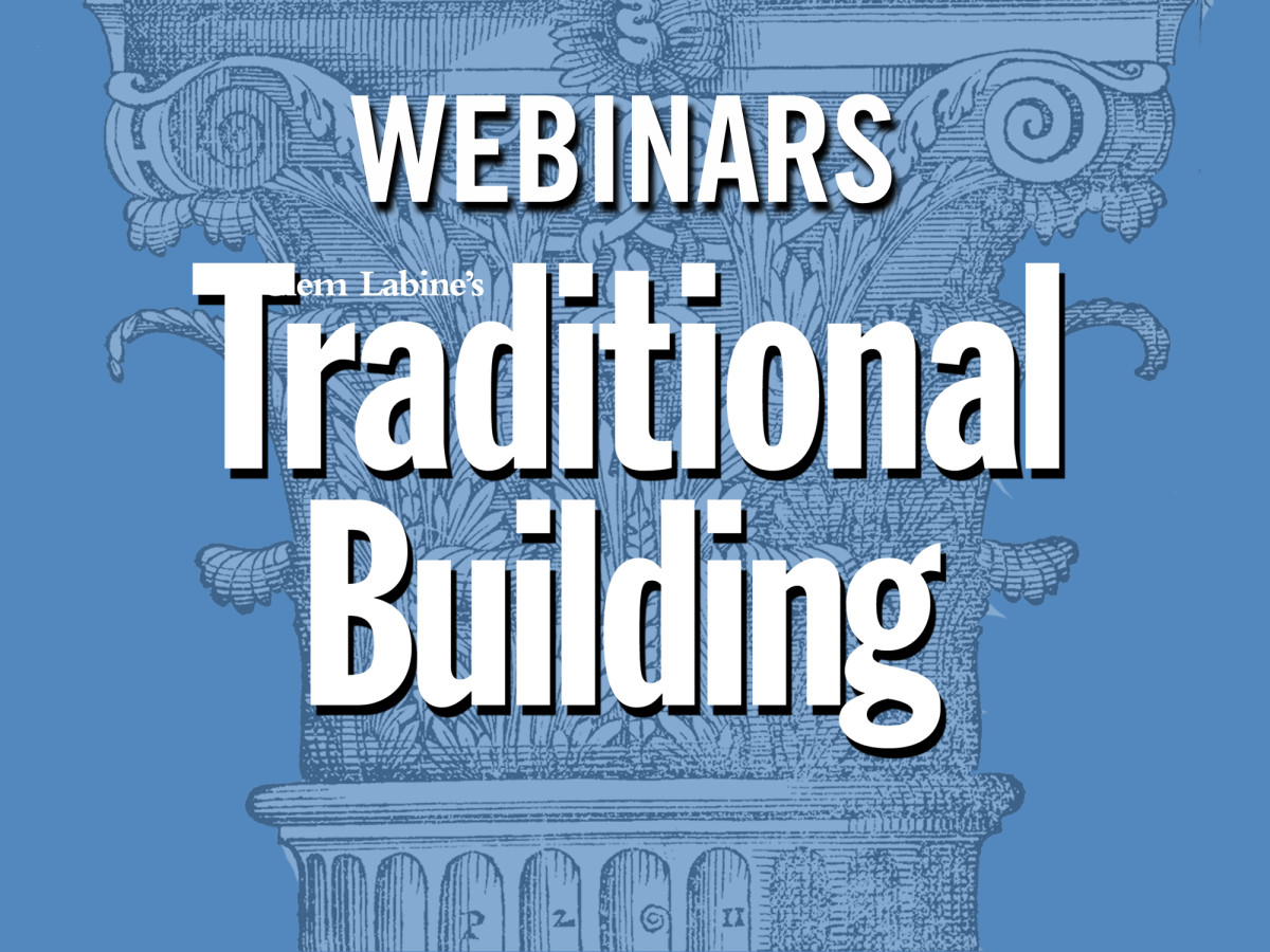 webinars traditional building