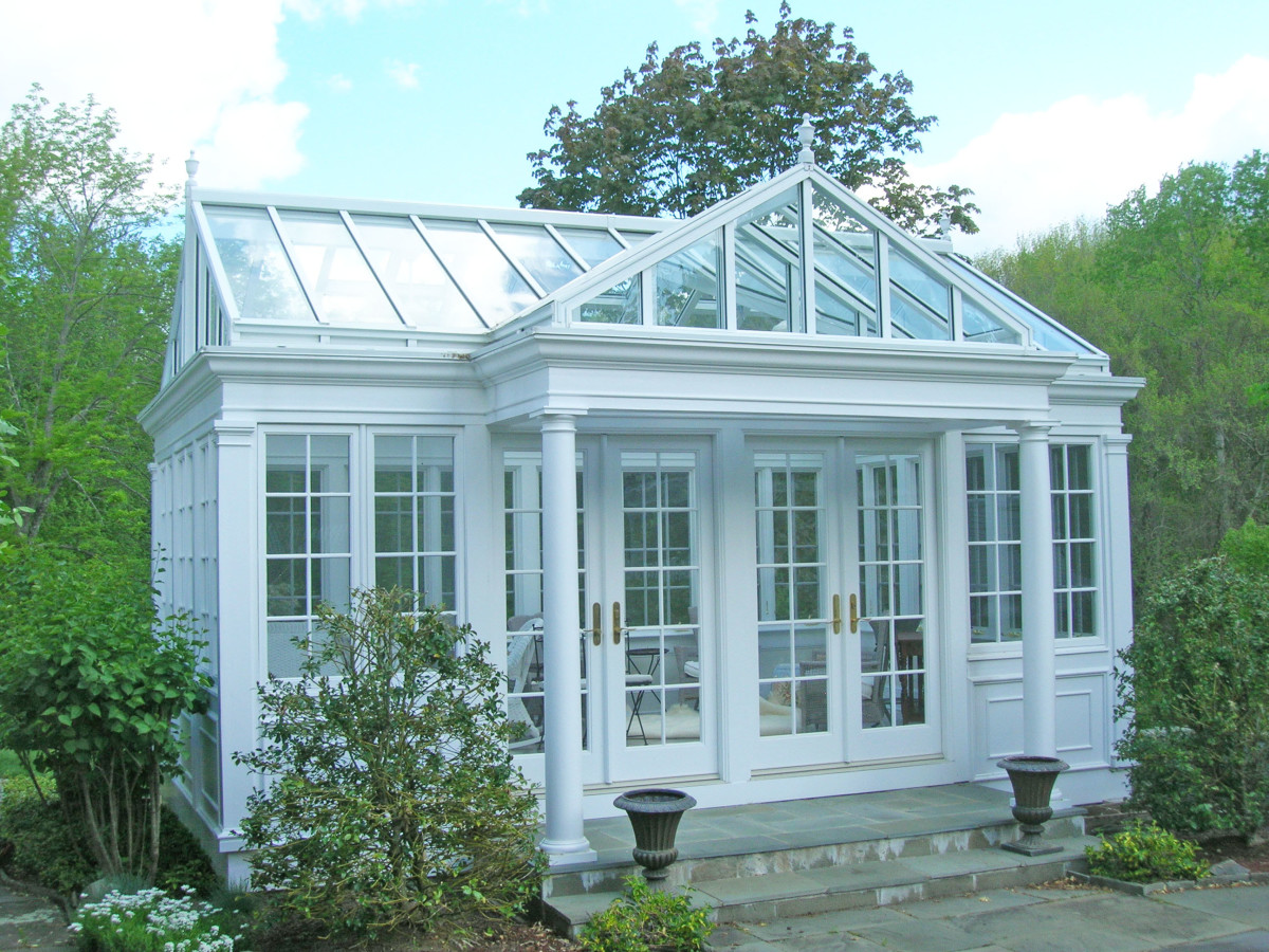 Freestanding Pool House Conservatory at Pomfret Center, Connecticut