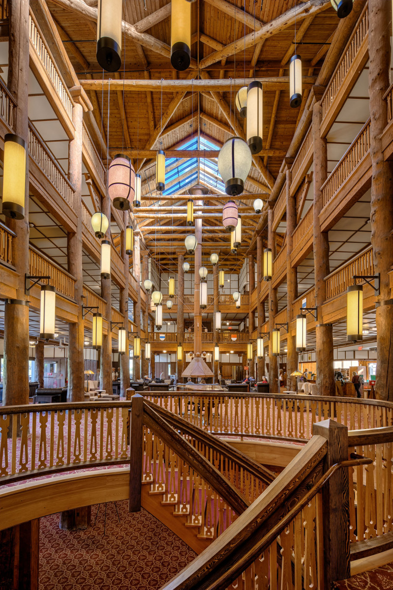 Interior of Many Glacier Hotel