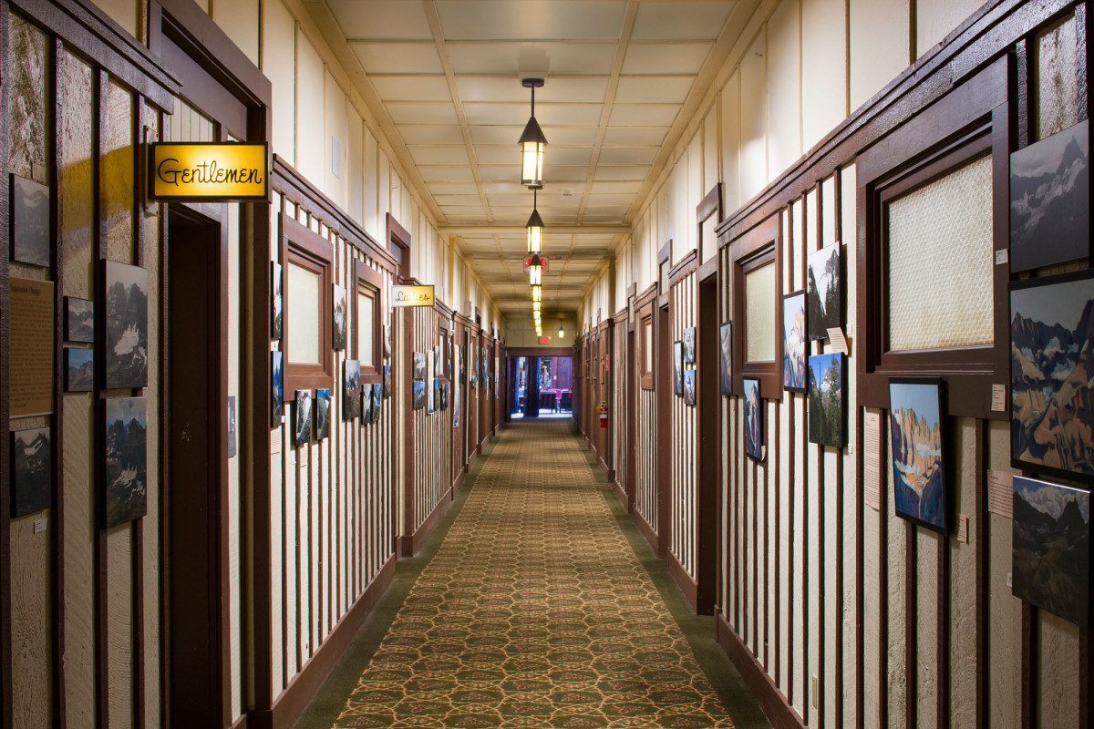Many Glacier Hotel rehabilitated hallway