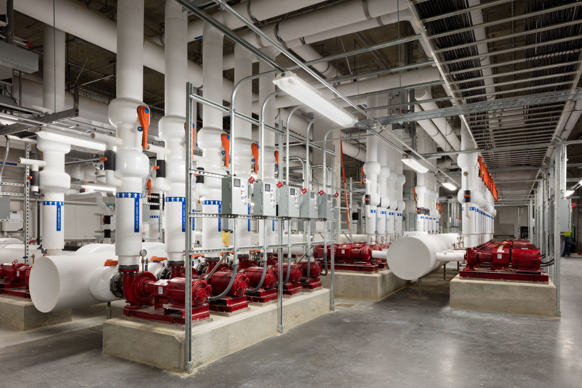 20,000-sq.ft. main pump room