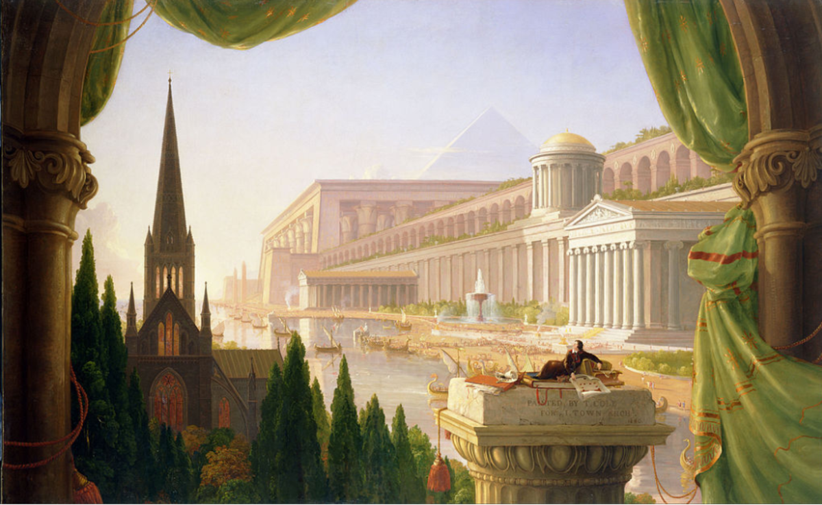 The Architect's Dream (1840), painting by Thomas Cole. Image: Image: Wikipedia