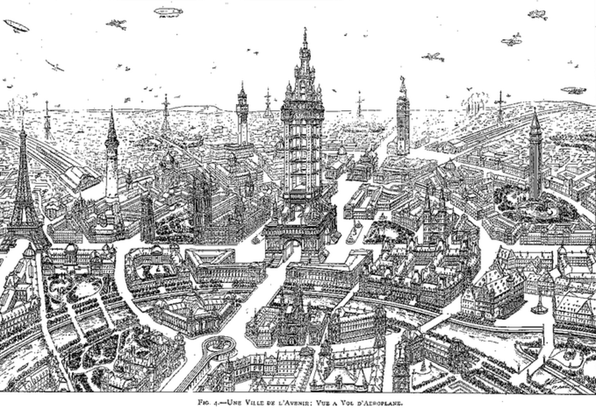 Vision of a future Paris by Eugene Henard (1849-1923): Image, Urban Planning Library, Cornell University