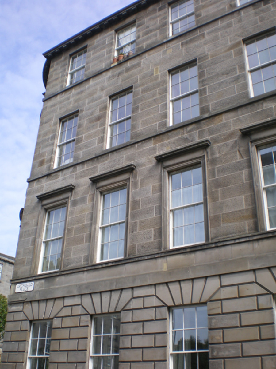 "Archibald, Scotland: Installed in a listed 18th-century stone building in Edinburgh, Spacia VIG windows ""read"" as historic, but offer twice the thermal efficiency as single glazing."