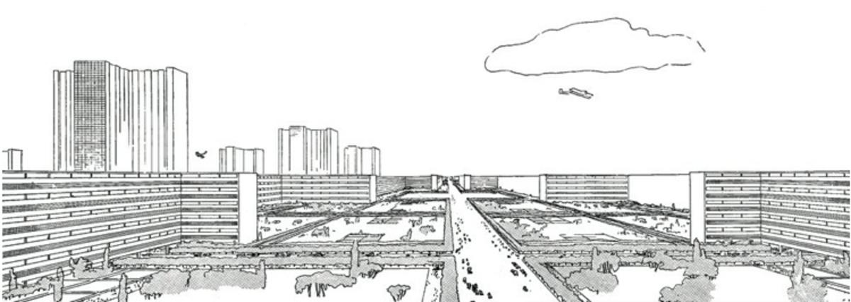 Corbusier's proposed Plan Voisin, Central Paris. Image: meriadeck.free.fr