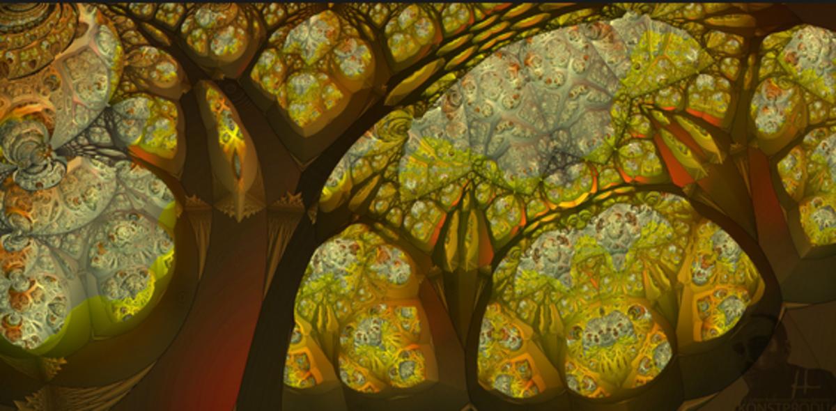 Fractal woodscape. Image: Mandelwerk
