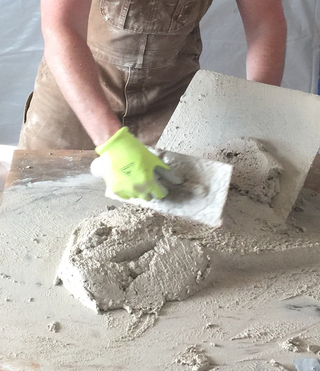 Lime putty plaster