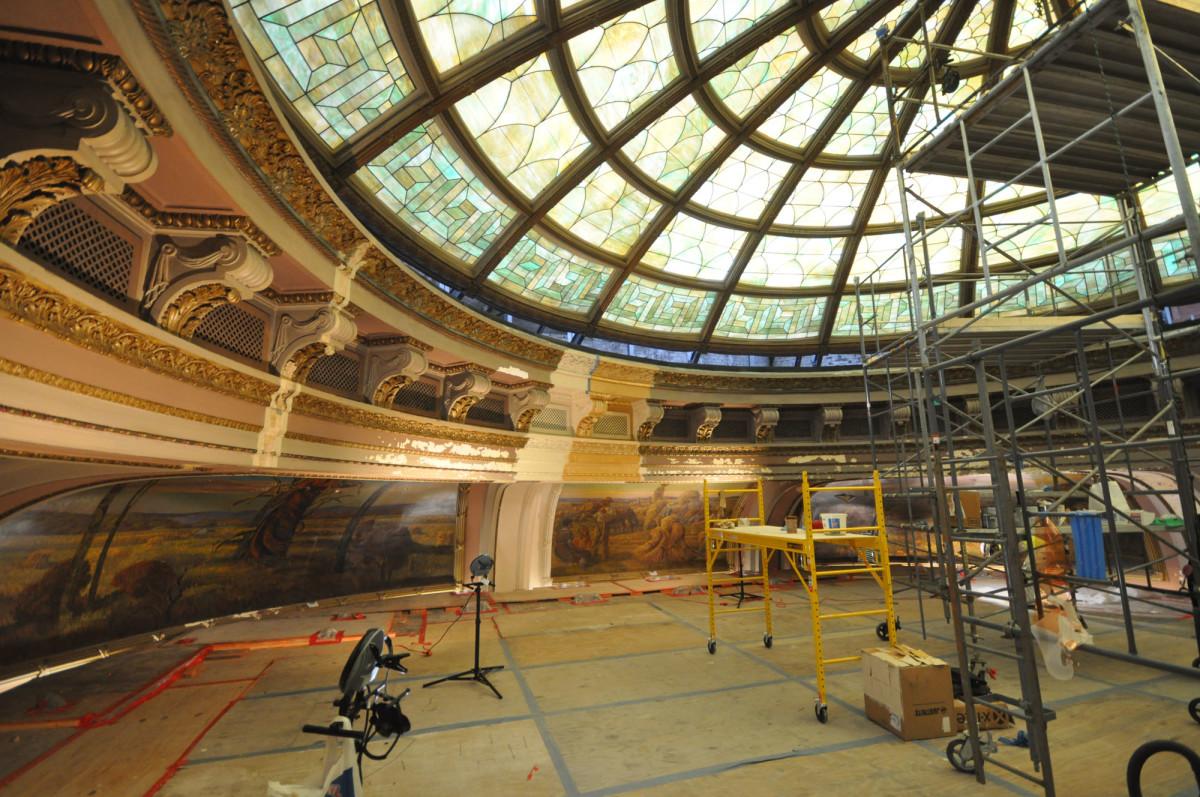 cornice restoration, mural restoration