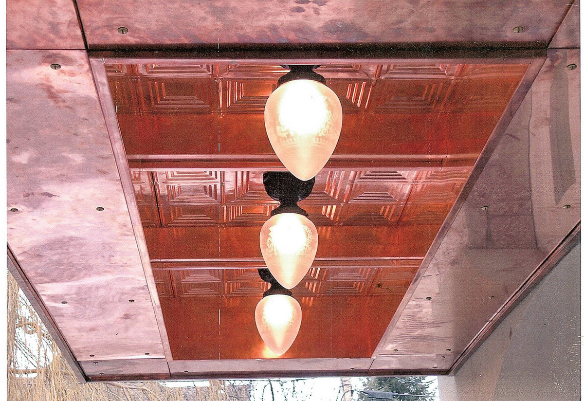 copper ceiling, traditional ceiling
