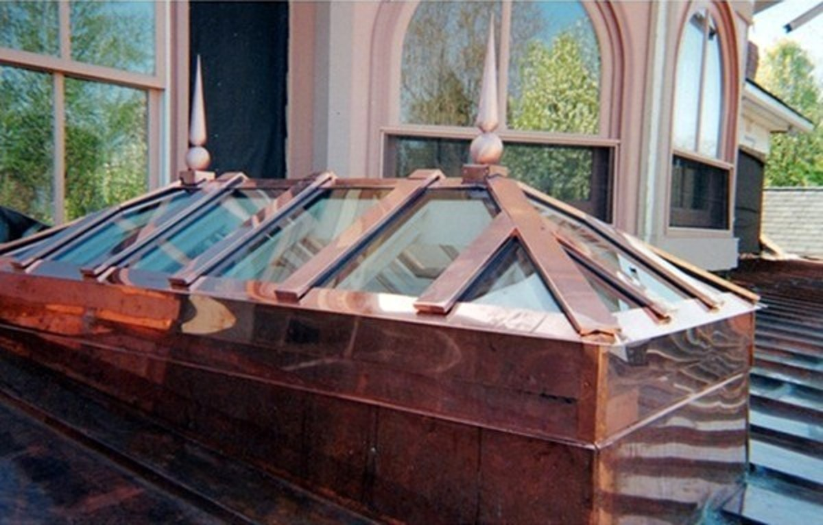 Hip Copper Skylight in Spring Lake, New Jersey