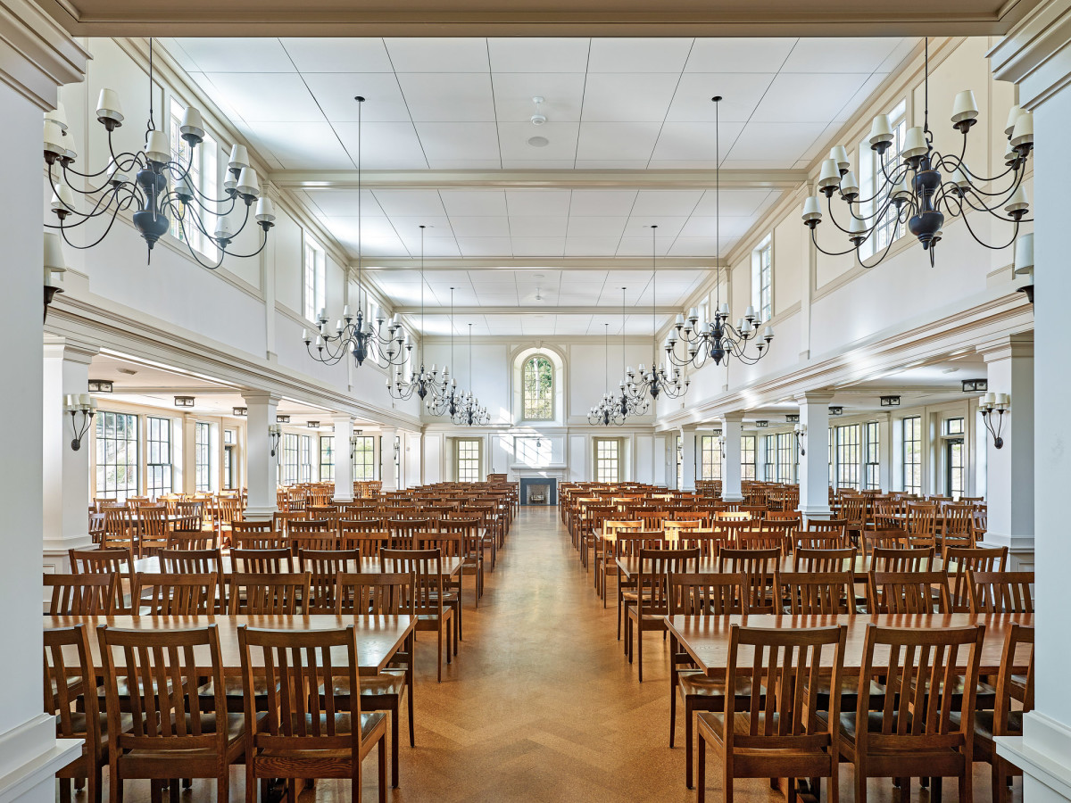 dining hall at millbrook school