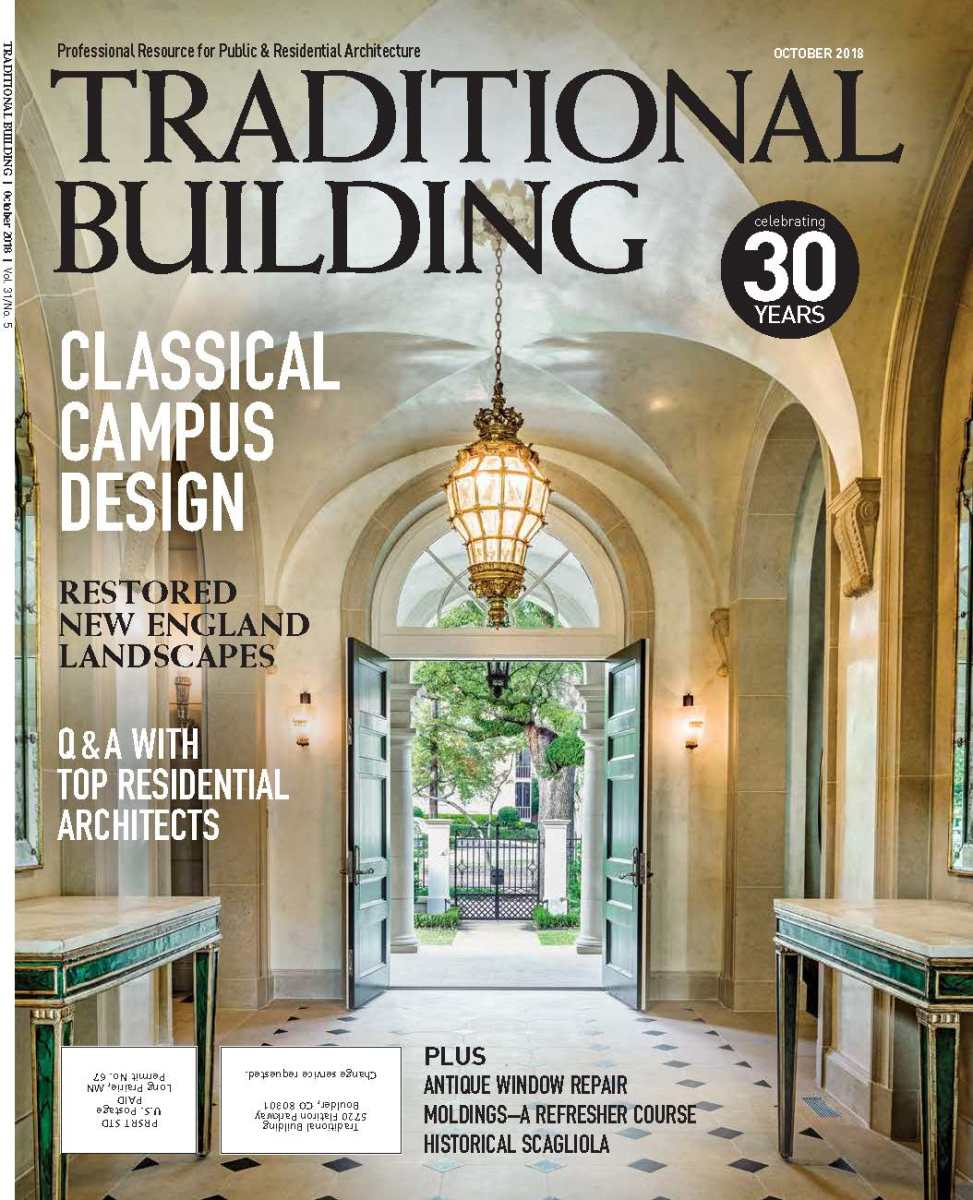 Traditional Building October 2018 issue