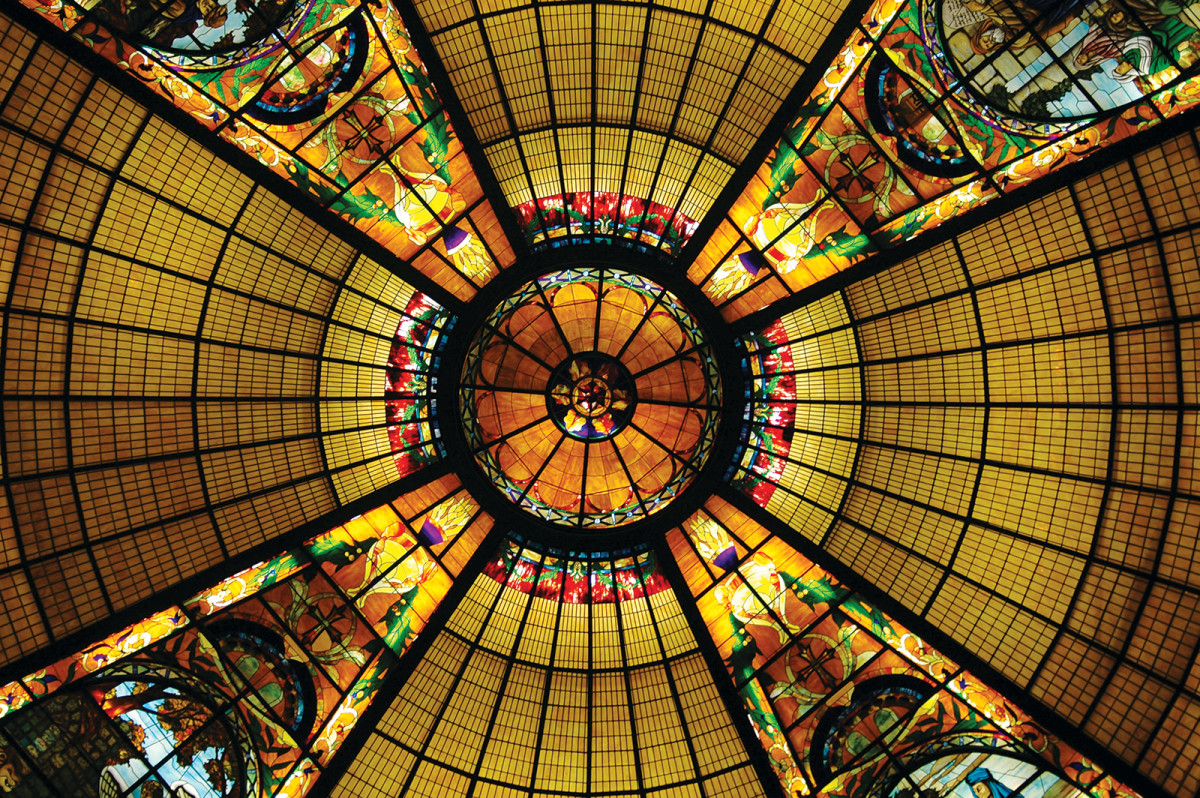 Building A New Stained Glass Church Dome Traditional