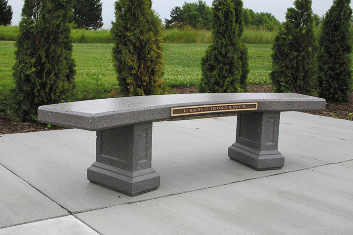 curved concrete bench doty & sons