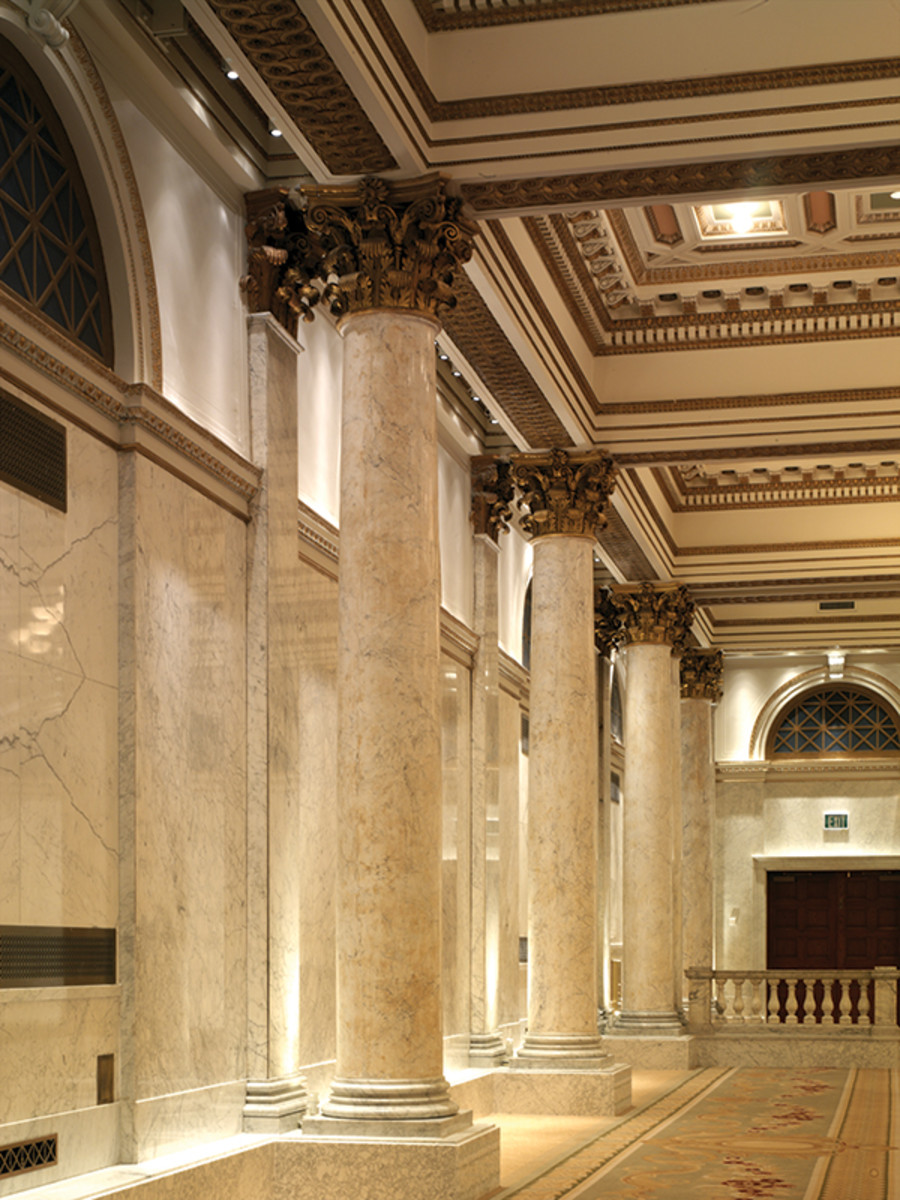 decorative plaster capitals masonic lodge maryland