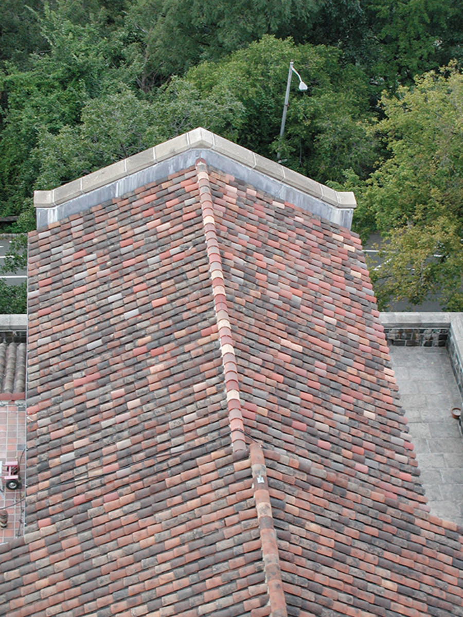 tile roof of the Cloisters